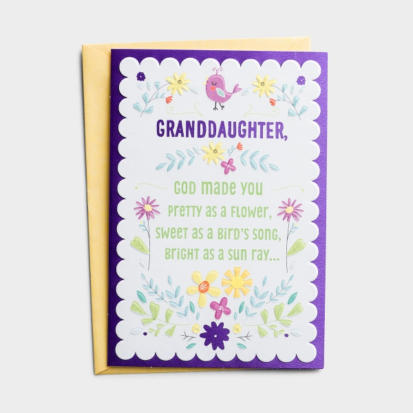 Remind your granddaughter that she is one of God's most precious creation this Easter season.
