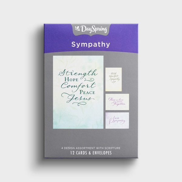 Sympathy - Simply Stated - 12 Boxed Cards