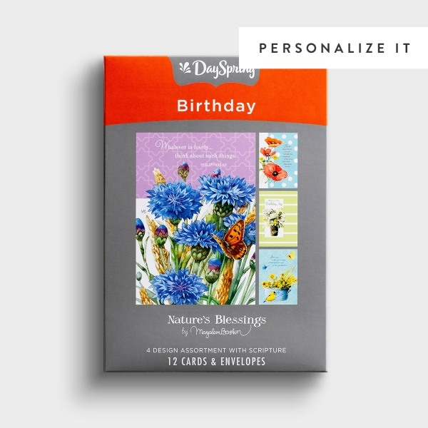 Nature's Blessings - Birthday - Birthday Joy - 12 Boxed Cards