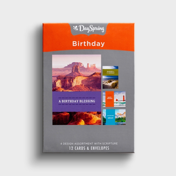Birthday - A Year of Adventure - 12 Boxed Cards