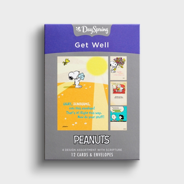 Peanuts - Get Well - 12 Boxed Cards