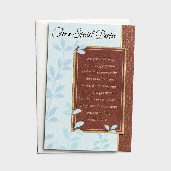Ministry Appreciation - For a Special Pastor - 1 Premium Card