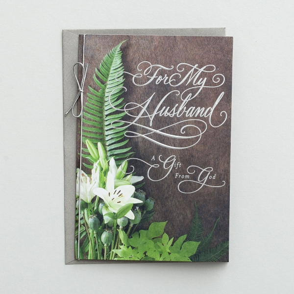 Easter - Husband - A Gift from God - 1 Premium Card