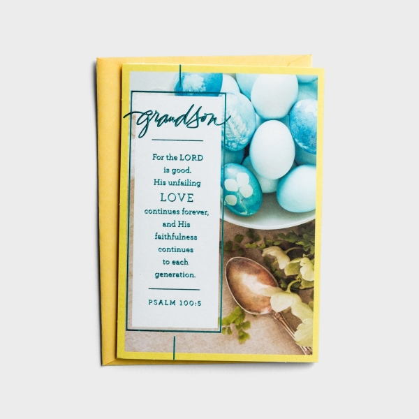 Easter - Grandson - Love Continues Forever - 1 Premium Card