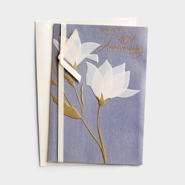 Anniversary - 40th Anniversary - 1 Premium Card