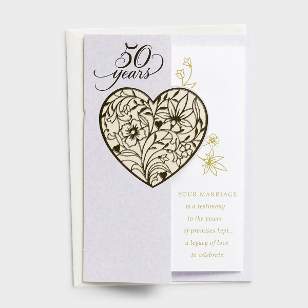 50th Anniversary - Your Marriage Is a Testimony - 1 Premium Card