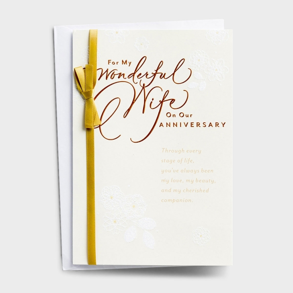 Anniversary - Wife - For My Wonderful Wife - 1 Premium Card