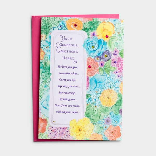 Mother's Day - For Anyone - Your Generous Heart - 1 Premium Card, KJV