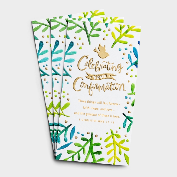 Confirmation - Celebrating Your Confirmation - 3 Money or Gift Cards