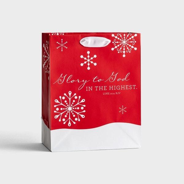 Glory To God - Medium Christmas Gift Bag
