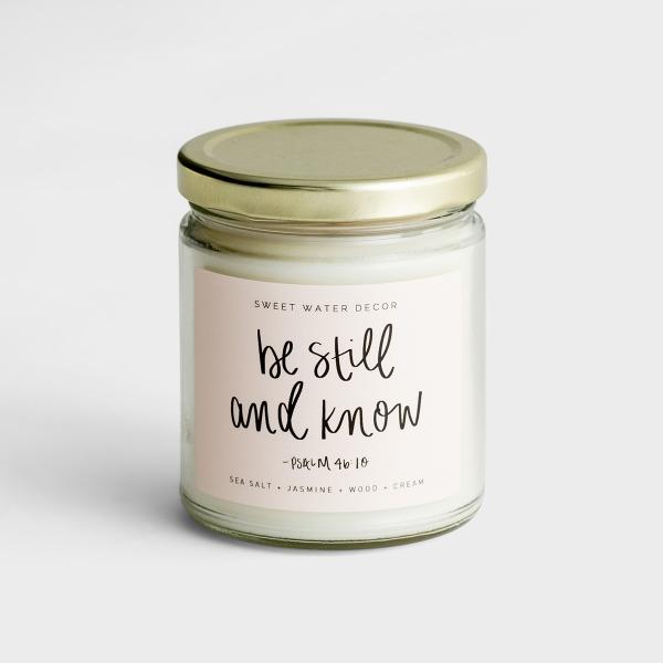 Be Still - Sea Salt + Jasmine + Wood + Cream - Soy Candle