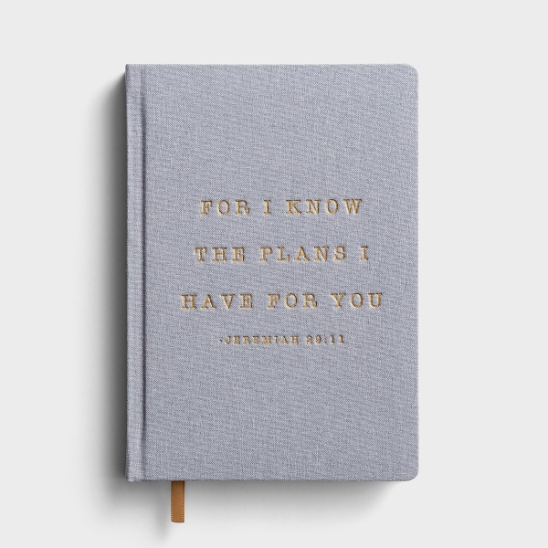 For I Know The Plans - Fabric Journal