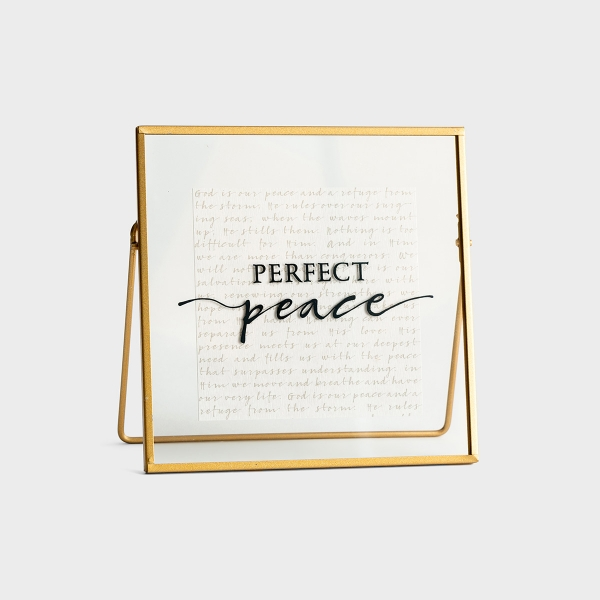 Perfect Peace - Glass & Metal Plaque