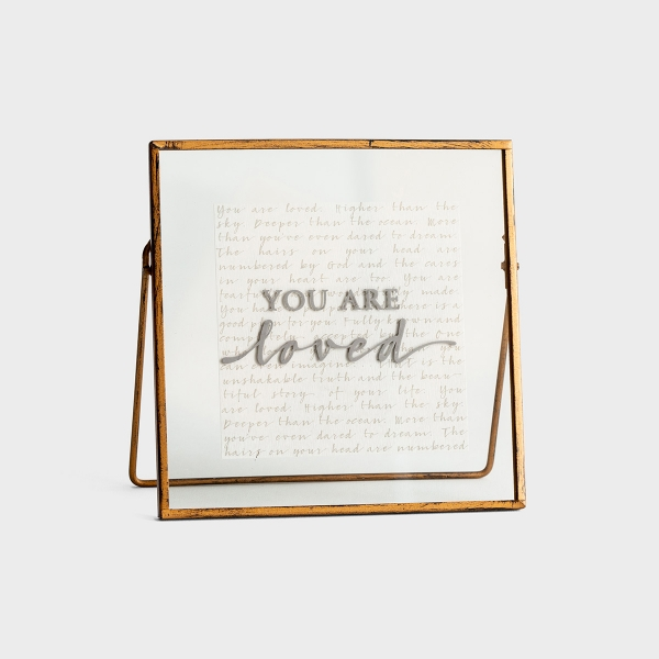 You Are Loved - Glass & Metal Plaque