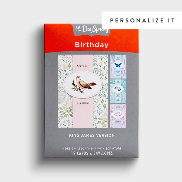 Birthday - Treasures - 12 Boxed Cards, KJV