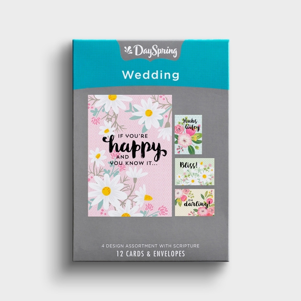 Wedding - Happy Wedding - 12 Boxed Cards