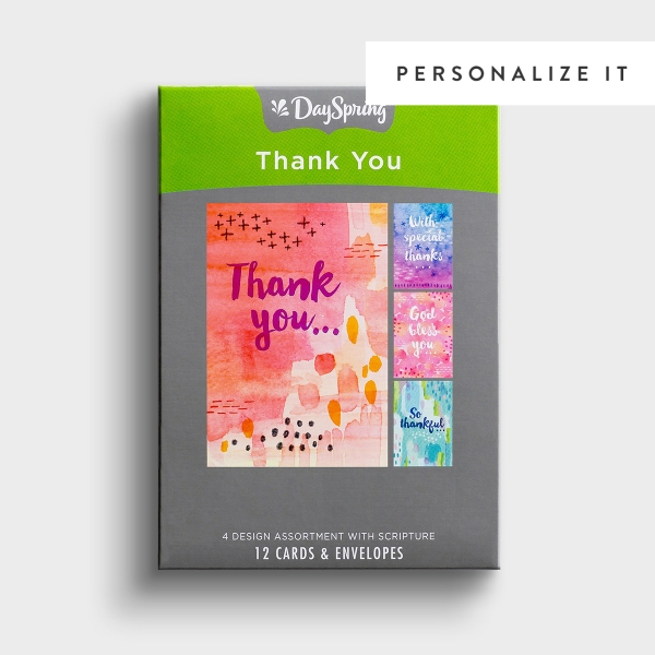 Thank You - Thoughtfulness - 12 Boxed Cards