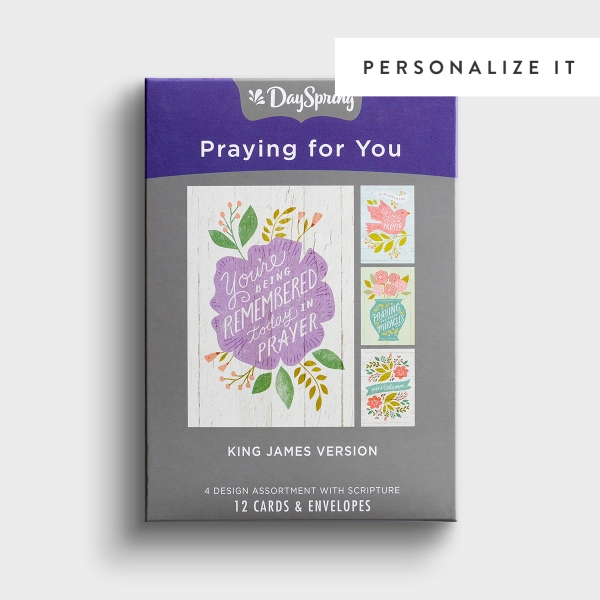 Praying for You - Remembering You - 12 Boxed Cards, KJV