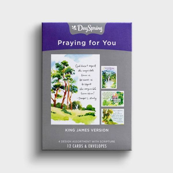 Praying for You - Classic Quotes - 12 Boxed Cards, KJV