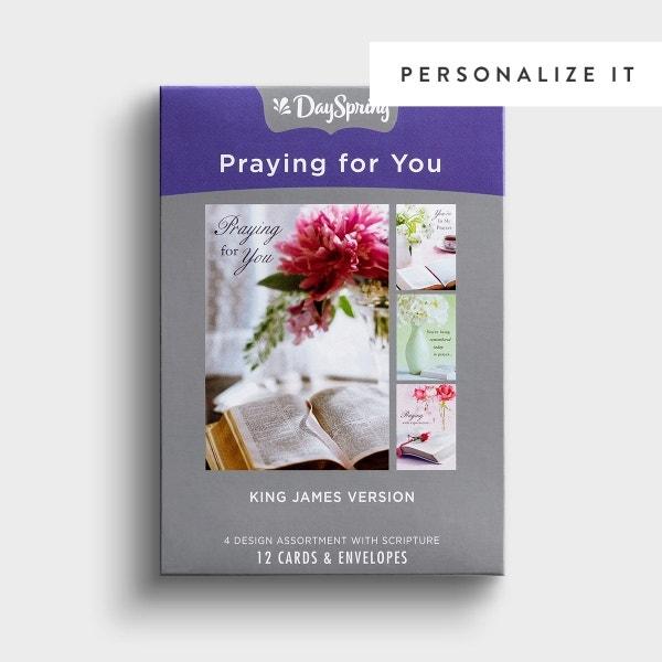 Praying for You - Assuring Love - 12 Boxed Cards, KJV