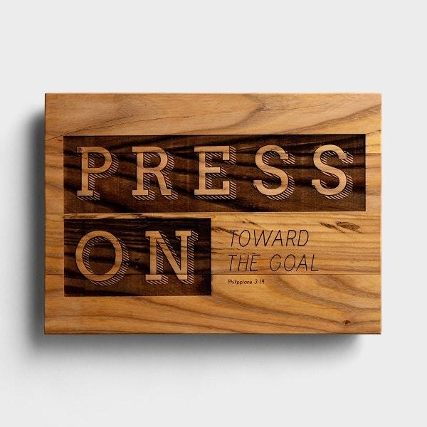 Press On Toward the Goal - Wooden Wall Art