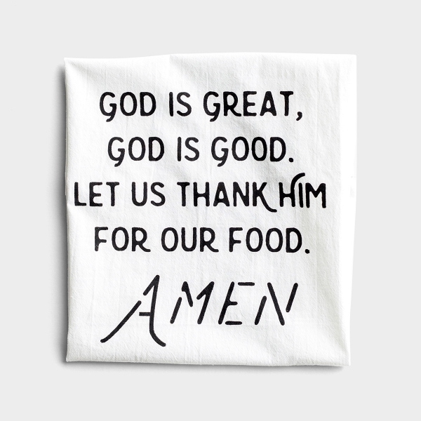 God Is Great - Crinkle Cotton Tea Towel