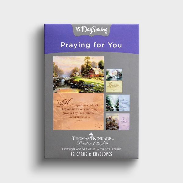 Thomas Kinkade - Praying for You - 12 Boxed Cards, KJV