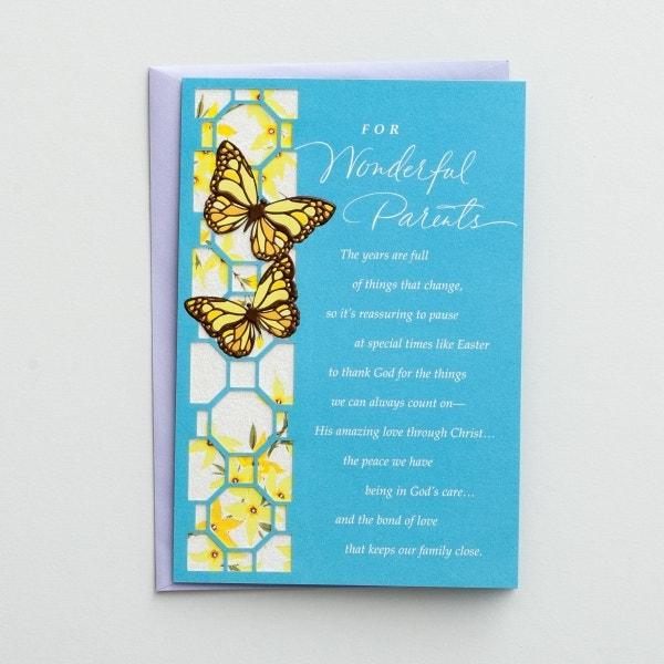 Easter - Parents - For Wonderful Parents - 1 Greeting Card, KJV