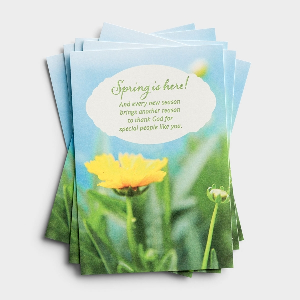 Easter - Spring Is Here - 6 Note Cards
