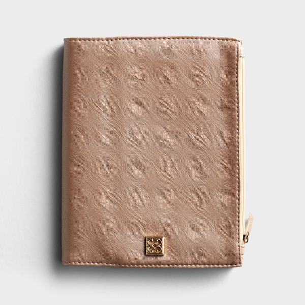 Vegan Leather Zip Pouch Journal - Champagne