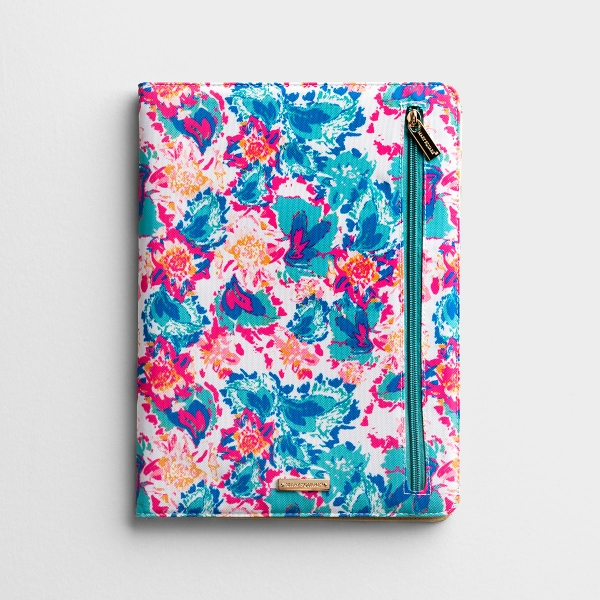 Canvas Portfolio Notebook - Peony Sorbet