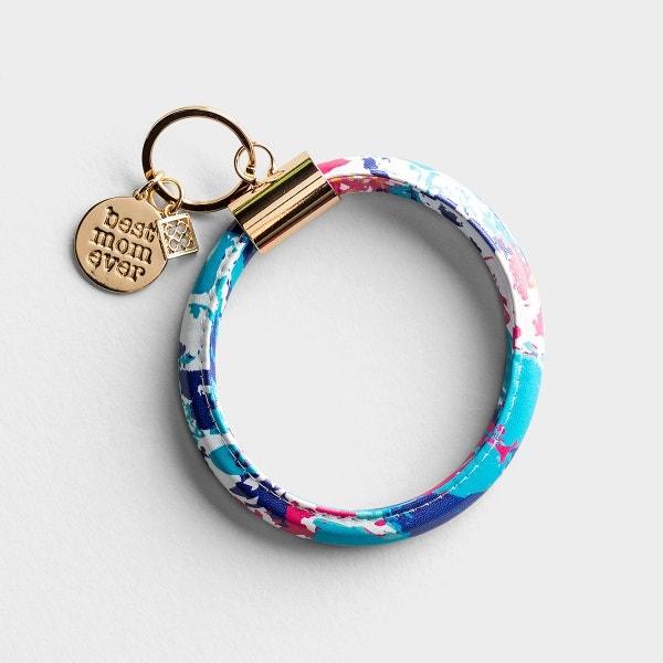 Best Mom - Bangle Keyring Bracelet - Peony Sorbet