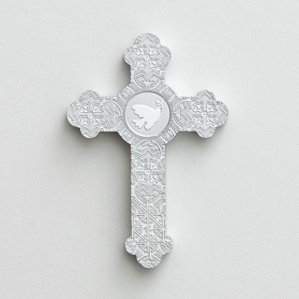 White Dove - Silver Decorative Cross