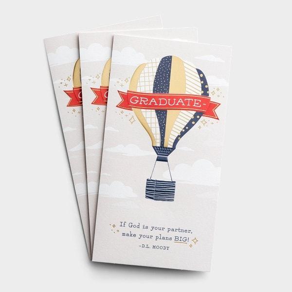 Graduation - Money Cards - Big Plans - 3 Premium Cards