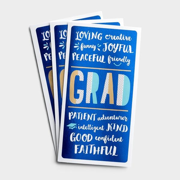 Graduation - Money Card - God Made You Amazing - 3 Premium Cards