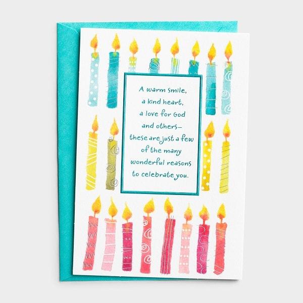 Birthday - For Anyone - Many Wonderful Reasons - 1 Premium Card