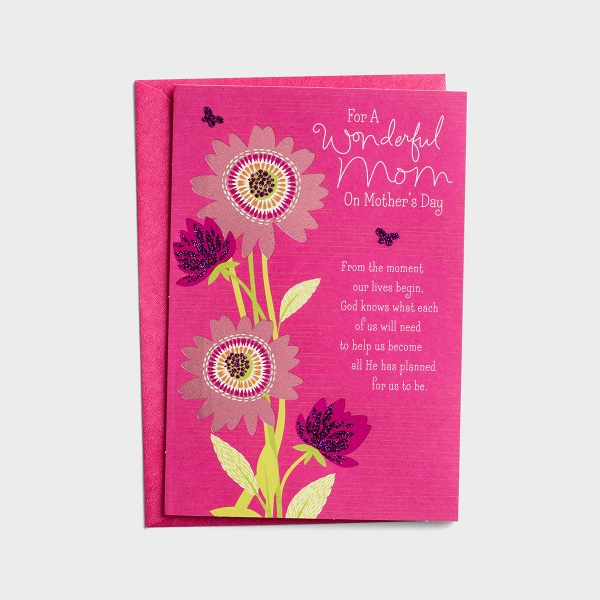 Mother's Day - For a Wonderful Mom - 1 Premium Card