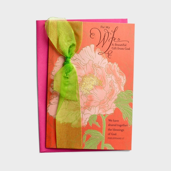 Mother's Day - Wife - A Gift from God - 1 Greeting Card