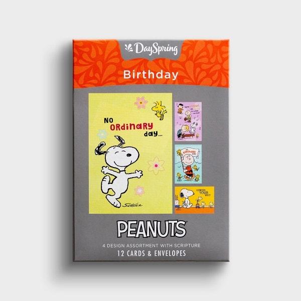 Peanuts - Birthday - 12 Boxed Cards
