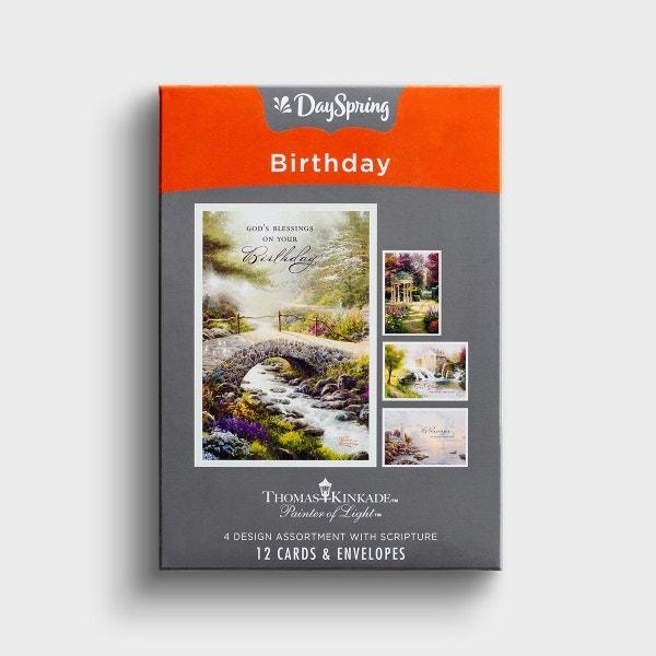 Thomas Kinkade - Birthday - For You - 12 Boxed Cards, KJV