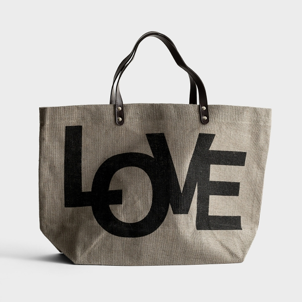 Love - Jute Tote Bag