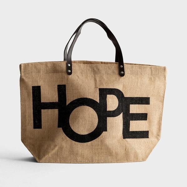 Hope - Jute Tote Bag