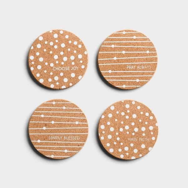 Choose Joy - Cork Coasters, Set of 4