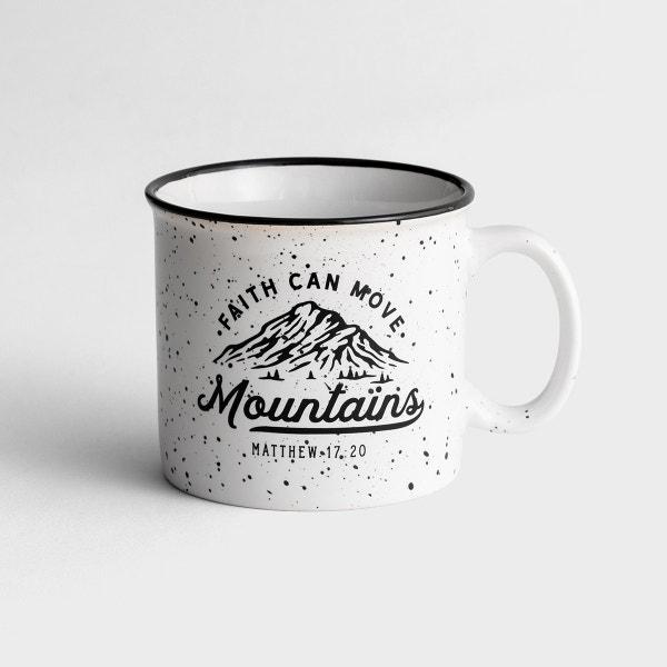 Faith Can Move Mountains - Ceramic Campfire Mug