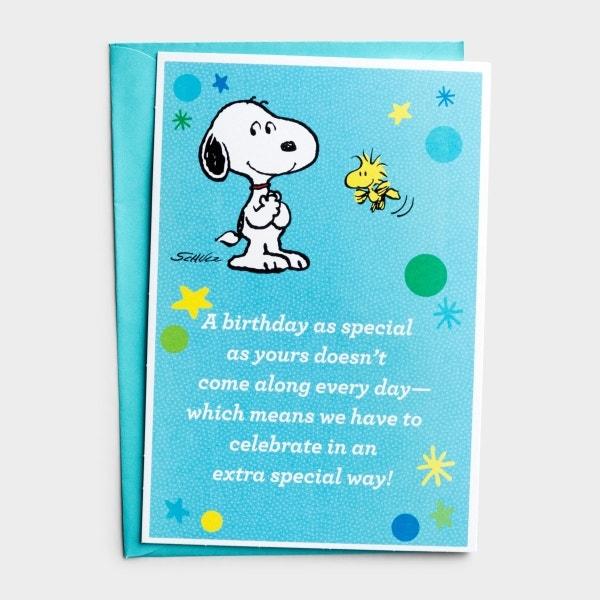 Peanuts® - Birthday - Blue - 1 Greeting Card