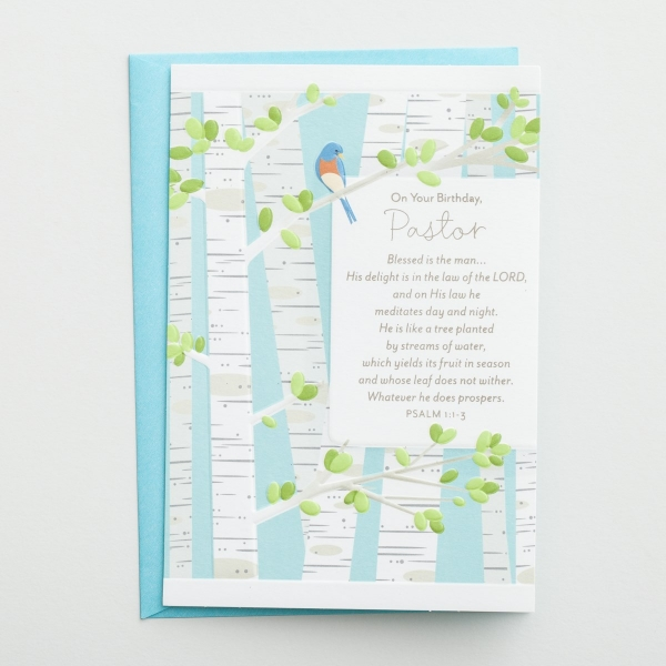 Birthday - Pastor - Blessed Is the Man - 1 Greeting Card
