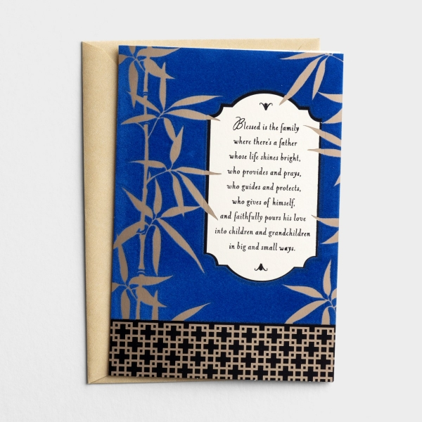 Father's Day - Dad - Blessed Is The Family - 1 Greeting Card