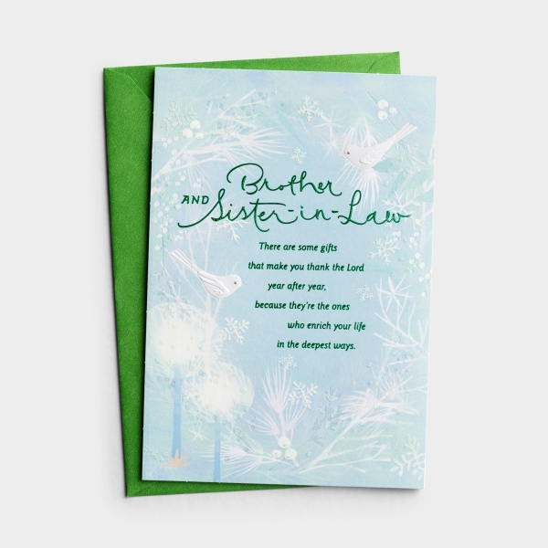 Christmas - Brother and Sister-in-Law - 1 Greeting Card