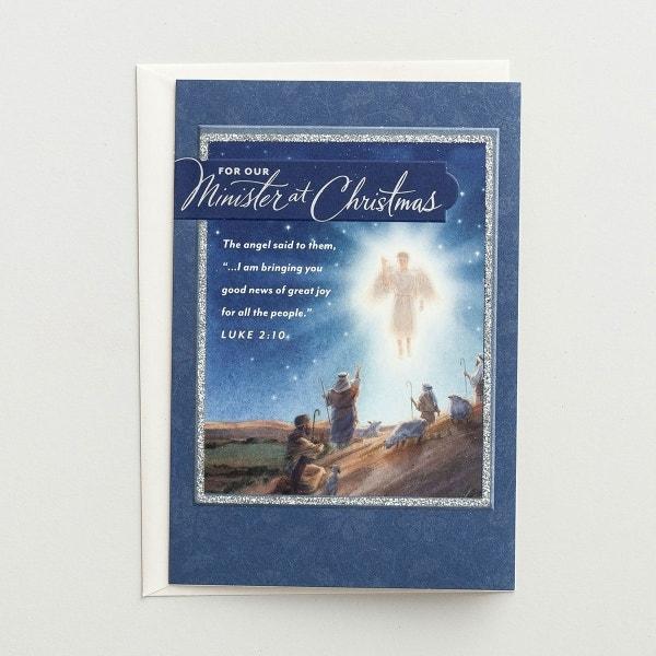 Christmas - Minister - God Bless You - 1 Premium Card