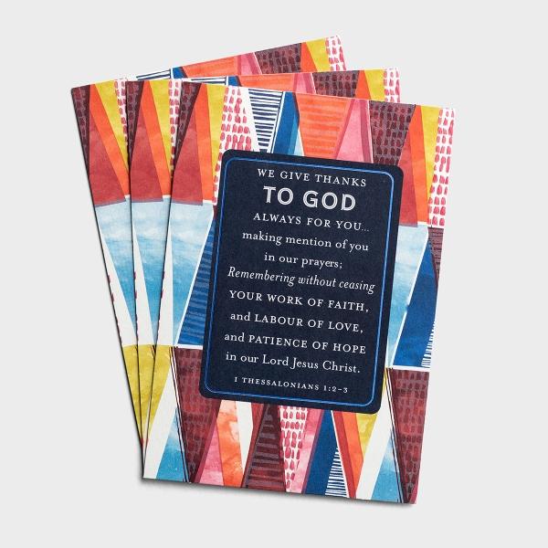 Ministry Appreciation - We Give Thanks To God - 3 Cards, KJV